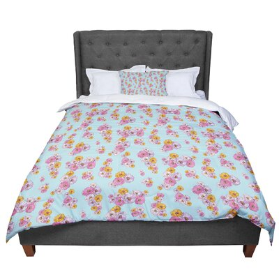 Laura Escalante Paper Flower Comforter Size: King