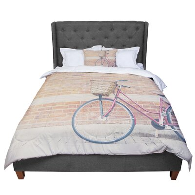 Laura Evans a Bicycle Comforter Size: King