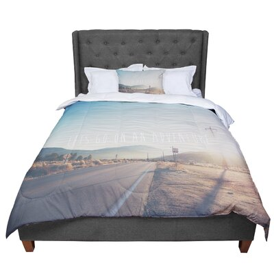 Laura Evans Lets Go on an Adventure Comforter Size: Queen