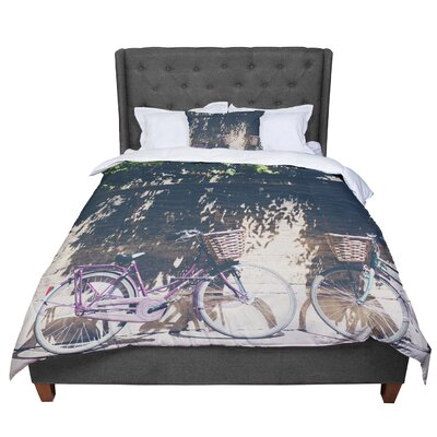 Laura Evans Pretty Bicycles Comforter Size: King