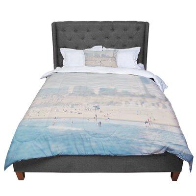 Laura Evans Santa Monica Beach Comforter Size: Queen