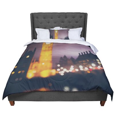 Laura Evans Westminster at Night Comforter Size: Queen
