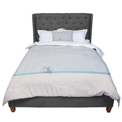 Laura Evans Tower 17 Coastal Comforter Size: Queen