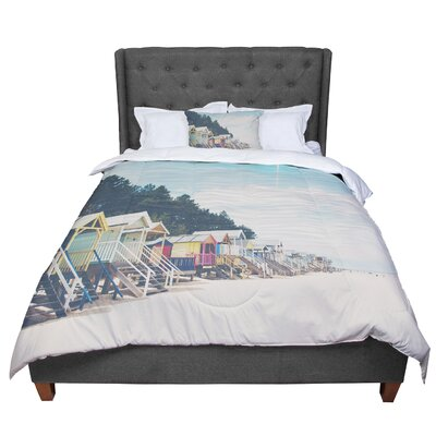 Laura Evans Small Spaces Beach Coastal Comforter Size: King