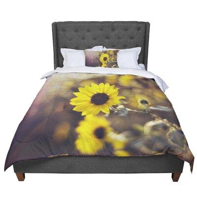 Libertad Leal Magic Light Flower Comforter Size: Queen