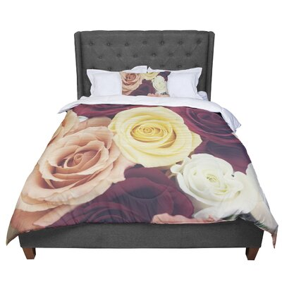 Libertad Leal Vintage Roses Comforter Size: King