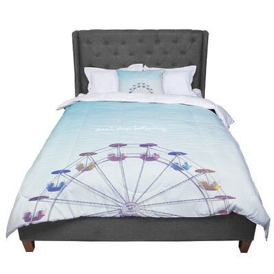 Libertad Leal Dont Stop Believing Ferris Wheel Comforter Size: King