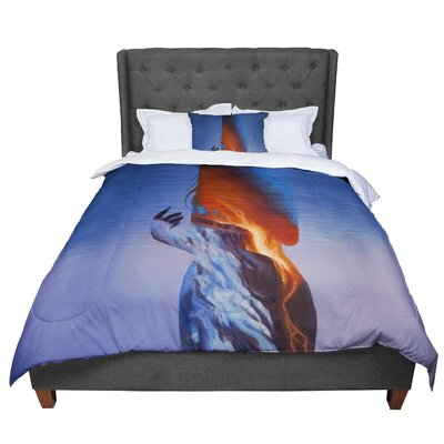 Lydia Martin Volcano Girl Comforter Size: Twin