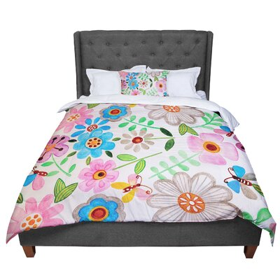 Louise Machado the Garden Comforter Size: Queen