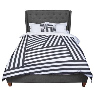 Louise Machado Stripes Comforter Size: Twin, Color: Black