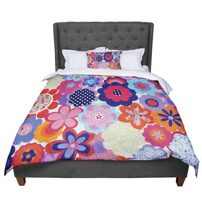 Louise Machado Patchwork Flowers Comforter Size: King