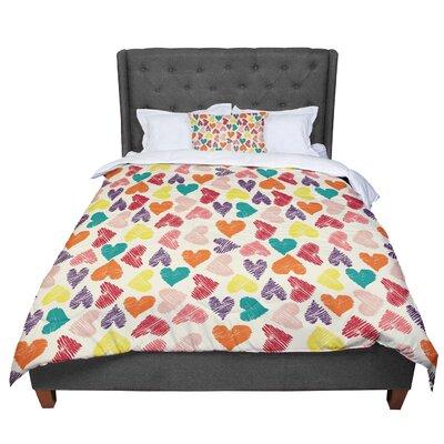 Louise Machado Little Hearts Comforter Size: Queen