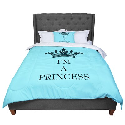 Louise Machado Im a Princess Comforter Size: Queen