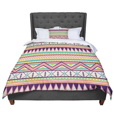 Louise Machado Ethnic Love Tribal Geometric Comforter Size: King