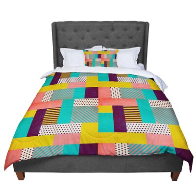 Louise Machado Geometric Love Pattern Abstract Comforter Size: Queen