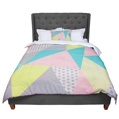 Louise Machado Geometric Comforter Size: King