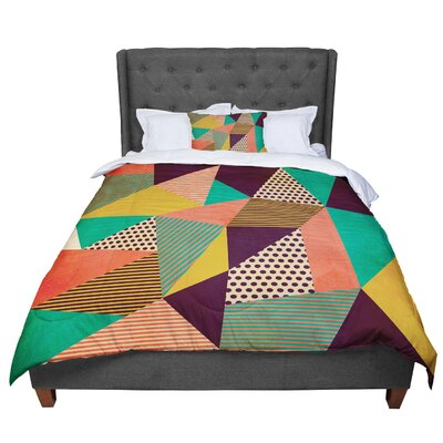 Louise Machado Geometric Love II Comforter Size: Queen
