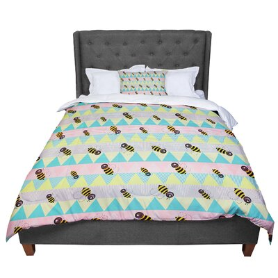 Louise Machado Little Bee Chevron Comforter Size: King