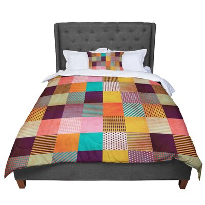 Louise Machado Decorative Pixel Warm Patches Comforter Size: Queen