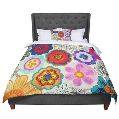 Louise Machado Charming Floral Comforter Size: King