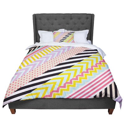 Louise Machado Diagonal Tape Geometric Comforter Size: King