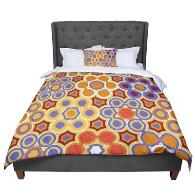 Laura Nicholson Flower Garden Comforter Size: Queen