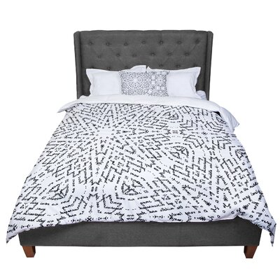 Laura Nicholson Letter of Advice Comforter Size: King