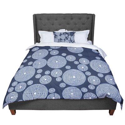 Laura Nicholson Indigo Labyrinths Comforter Size: Twin