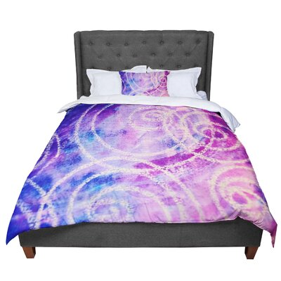 Liz Perez Vortex Watercolor Comforter Size: King