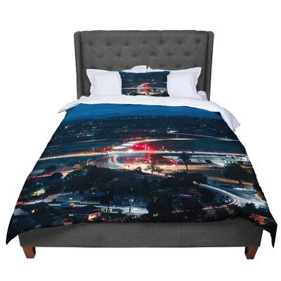 Just L Chasing Lights Comforter Size: Twin