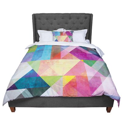 Mareike Boehmer Blocking Rainbow Abstract Comforter Size: Queen