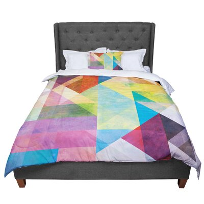 Mareike Boehmer Blocking II Rainbow Abstract Comforter Size: King