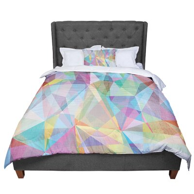 Mareike Boehmer Graphic 32 Rainbow Abstract Comforter Size: Queen