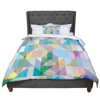Mareike Boehmer Graphic 74 Rainbow Abstract Comforter Size: King