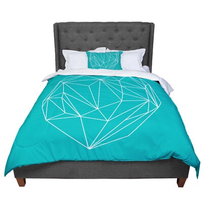 Mareike Boehmer Heart Graphic Abstract Comforter Size: Queen