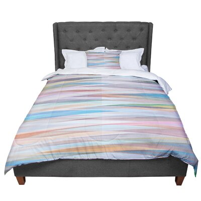 Mareike Boehmer Nordic Combination II Rainbow Abstract Comforter Size: King