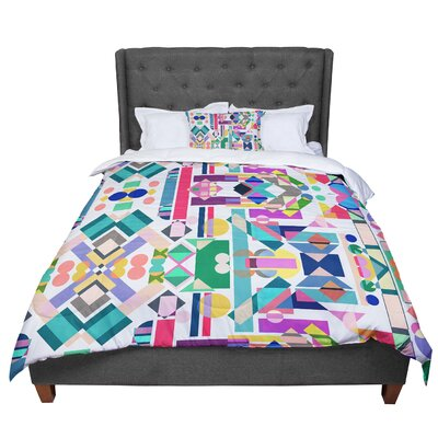 Mareike Boehmer Geometry 2B Abstract Rainbow Comforter Size: Queen