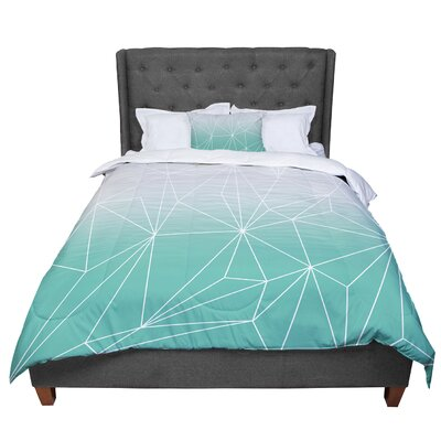 Mareike Boehmer Simplicity 2X Geometric Comforter Size: King, Color: Teal