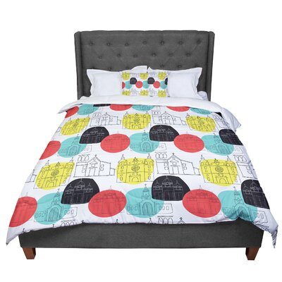 MaJoBV Cartagena Churches Polkadot Comforter Size: King