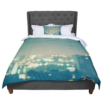 Myan Soffia Anniversary City Lights Comforter Size: Queen
