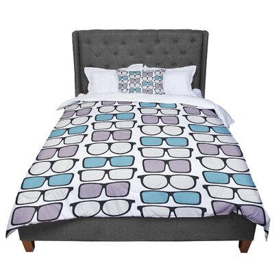 Michelle Drew Spectacles Geek Chic Comforter Size: King