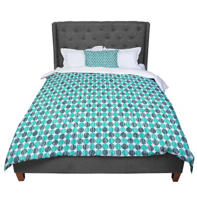 Michelle Drew Distressed Circles Comforter Size: Queen