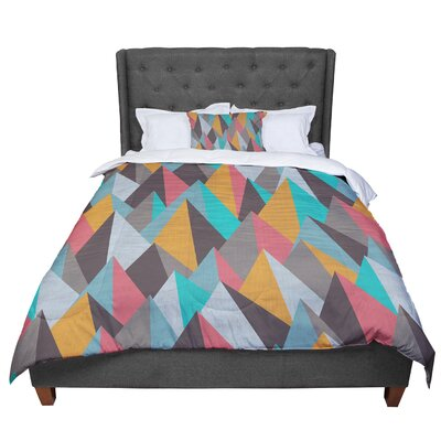 Michelle Drew Mountain Peaks Comforter Size: Queen, Color: Orange/Teal