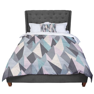 Michelle Drew Mountain Peaks Comforter Size: Twin, Color: Pastel/Geometric