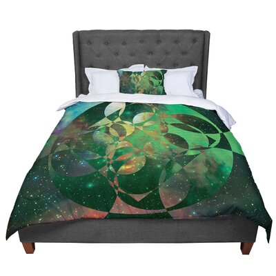 Matt Eklund Galactic Brilliance Comforter Size: Twin, Color: Green