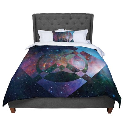 Matt Eklund Galactic Radiance Comforter Size: Twin, Color: Blue/Purple