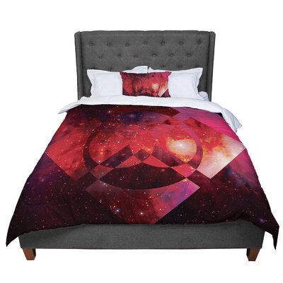 Matt Eklund Galactic Radiance Comforter Size: Twin, Color: Red/Pink