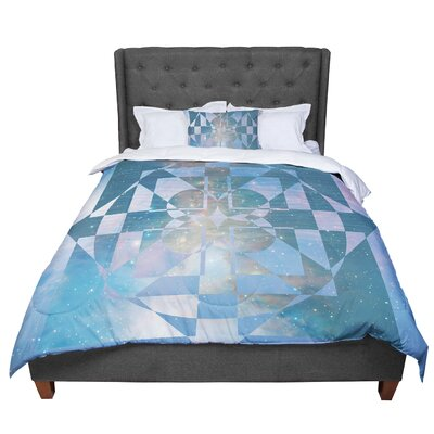 Matt Eklund Galactic Hope Comforter Size: Twin, Color: Aqua/Blue