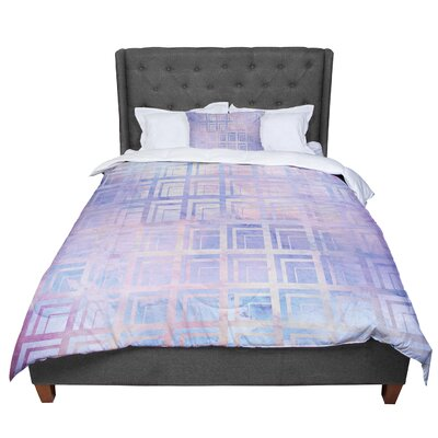 Matt Eklund Tiled Dreamscape Comforter Size: Queen, Color: Pink/Purple