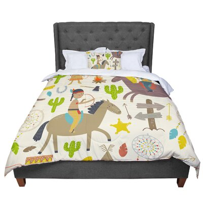 Petit Griffin Tipi Kids Comforter Size: Twin